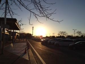 美里パーキングから初日の出(1月2日)ですが
