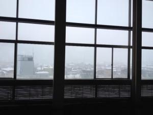 雪の越後湯沢で乗換て