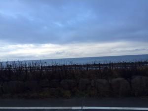 2015年12月31日、冬の日本海が穏やかな表情を見せております。